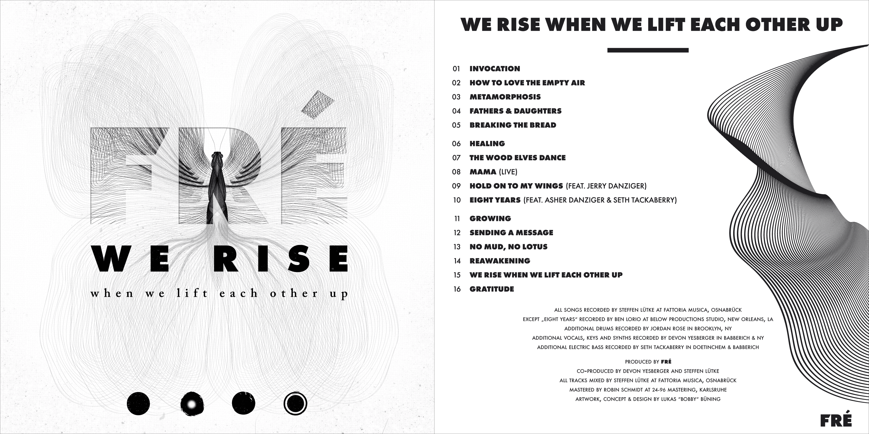 WE RISE When We Lift Each Othr Up - Limited Edition front- and back-cover